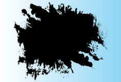 Black liquid splatter Stock Images