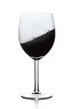 Black liquid in wine glass Royalty Free Stock Photography