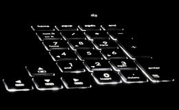 Black lit keyboard Royalty Free Stock Photo