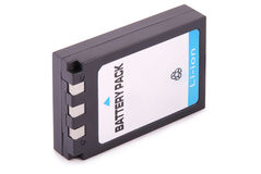 Black lithium-ion battery pack (Clipping path) Stock Photography
