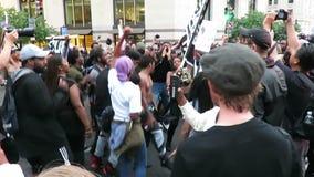 Black lives matter chant stock video