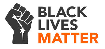 Black Lives Matter Illustration Stock Photo