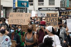 Free Black Lives Matter/Not Another Black Life Protest In Toronto, Ontario Stock Image - 184907641