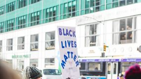 Black lives matter sign. Black live matter sign on the streets march Royalty Free Stock Photo