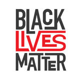 Black Lives Matter Typography Illustration. Black and Red Black Lives Matter Typography Illustration stock illustration