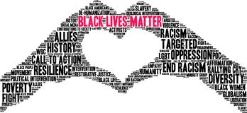 Free Black Lives Matter Word Cloud Royalty Free Stock Photography - 158980667