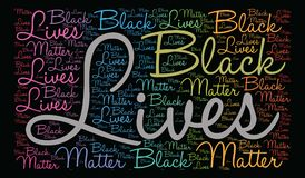 Black Lives Matter Word Cloud. On a black background Royalty Free Stock Photos