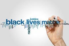 Black lives matter word cloud concept. Black lives matter word cloud Stock Photography