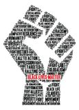 Black Lives Matter Word Cloud Stock Photography