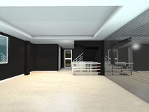 Black living interior design Royalty Free Stock Photo