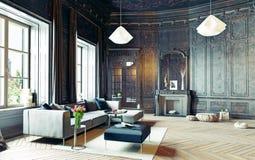 Black living room Stock Photo