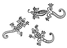 Black lizards Royalty Free Stock Images