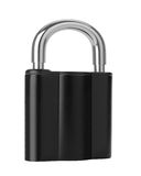 Black Lock isolated on white Royalty Free Stock Images