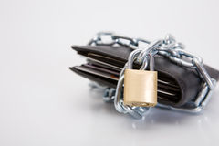 Black Locked Wallet Stock Image
