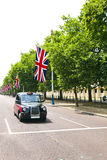 Black London cab  Royalty Free Stock Photo