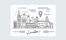 Black london icon. Vector black london icon on white background Stock Images