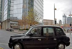 A Black London Taxi in London England. royalty free stock photography
