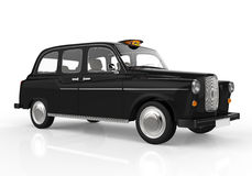 Black London Taxi Stock Images