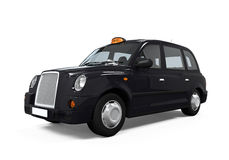 Black London Taxi Stock Image