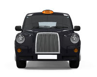 Black London Taxi. Isolated on white background. 3D render vector illustration