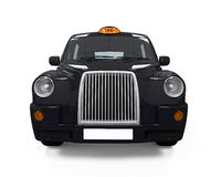 Black London Taxi. Isolated on white background. 3D render stock illustration