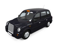 Black London Taxi Royalty Free Stock Image