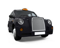 Black London Taxi Royalty Free Stock Photography
