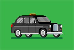 Black London taxi. Vector isolated, black cab. Vector illustration Eps10 file vector illustration