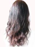Black long hair curls Stock Image