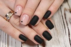 black long nails stock photo