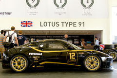 Black Lotus Evora GTC. At Goodwood Festival of Speed on June, 28 2012 in Goodwood England stock image