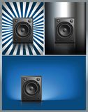 Black Loud Speaker  on other Background Stock Photos