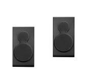 Black loud speakers. Pair of black loud speakers Stock Photo