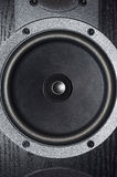 Black loudspeaker Stock Photography