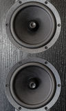 Black loudspeaker Royalty Free Stock Images