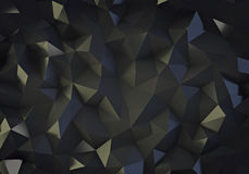 Black low poly background Royalty Free Stock Image