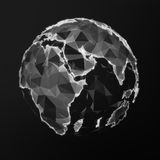 Black low poly earth Royalty Free Stock Image