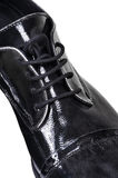 Black low shoes Stock Image