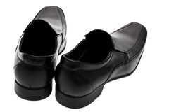 Black low shoes Stock Photos