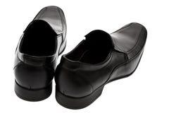 Black low shoes Stock Photos