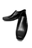 Black low shoes Stock Images