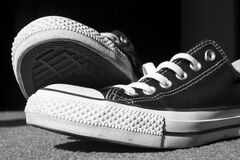 Black Low Tops Stock Photography