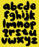 Black lower case bubble alphabet Royalty Free Stock Photos