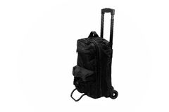 Black Luggage  Bag On Wheels with Extending handle isolated Stock Images