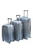 Black luggage isolated Stock Photos