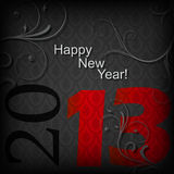 Black Luxury Background. For the new year 2013 Stock Photo