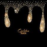 Black luxury background with gold Stock Image