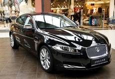 Black luxury car Stock Images