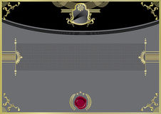 Black luxury certificate with gold desing elements Royalty Free Stock Photos