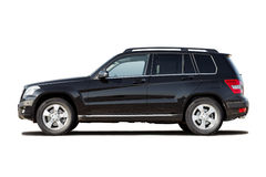 Black luxury compact SUV. Isolated on white Royalty Free Stock Photo